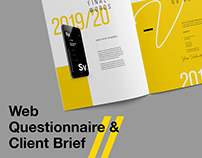 Web Questionnaire and Client Brief