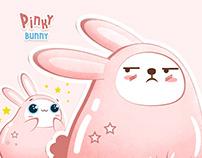 Pinky bunny. Sticker pack