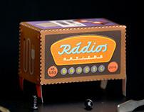 Rádios Antigos, selos brasileiros