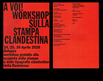 Editorial - A VOI! Workshop stampa clandestina