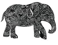 zentangled little elephant