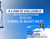 A Quotography on the Importance of Law