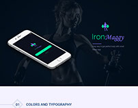 'IronMaggy' fitness app