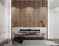 Pontelli wooden panels in the interior of a bedroom