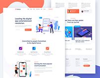 Pentrax – Creative App Landing Template (Freebie)