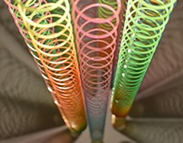 Slinky Lamp – Material Exploration