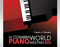 VI Coimbra World Piano Meeting 2021 / Poster Design
