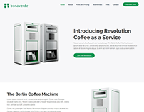 Landing Page for a German Coffee Machine Maker company