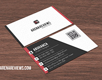 Free Clean White Corporate Modern Business Card