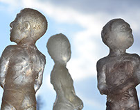 Sculptures during studies