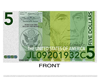 US Five Dollar Bill Reimagined