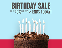 Appliances Online Birthday Sale Campaign