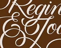 Regina & João | Lettering Wedding