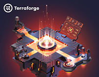 Terraforge.io - website with hot lava and animations