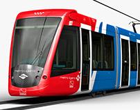 Madrid tram-Alstom Citadis 302
