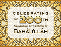 The Bicentennial of the Birth of Bahá'u'lláh - graphics
