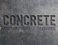 20 Concrete Backgrounds / Textures