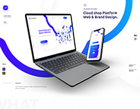 Cloud shop Platform Web & Brand Design.