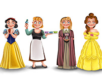 DISNEY - Princesses and evil Characters