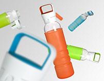 Glass water bottle for SNAPWARE