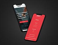 """""""Produktai sportui"""" mobile dizainas"""