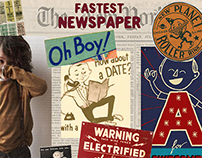 Fastest Newspaper Boy Collection AW 012