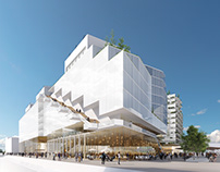 Rough render made for Linkcity- Project in Nanterre
