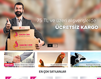Yemcim.com - E-commerce website design