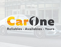 CarOne logo, stationery & web
