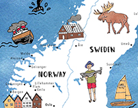 Illustrated Maps for National Geographic Magazine