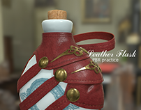 Leather Flask Pottery Mesh - PBR practice