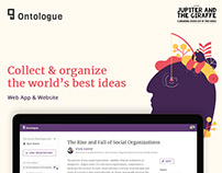 Ontologue | Strategy, Web App & Website Build