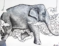 Elephant. Feather-light.