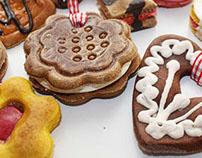 handmade ornaments for Christmas of salt mass