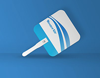 FREE PSD Mockup Plastic Hand Fan | KilojoResource#7