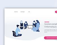 Landing page - Gestion de l'informatique
