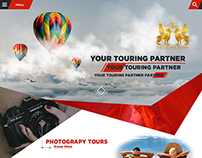 A Creative Web Landing Page For a Tour Company