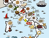 Gastronomic Map of Italy