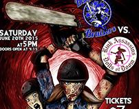 Evil Dead Roller Derby Bout Poster