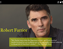 Robert Farrior personal web page design