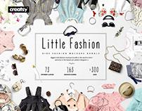 Little Fashion Kids Apparel Mockup Bundle