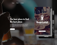 BeerLand - Landing Page Concept