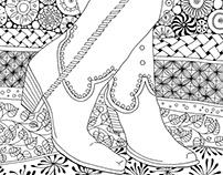 Zentangle Coloring Book