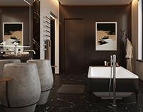 Interior design bathroom in Kiev