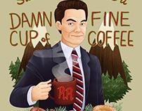 Damn Fine Coffee Illustration