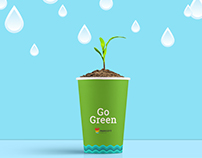 Paricott Paper Cups   Go Green   Advertisement