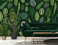 Foliage on Green