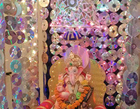 Used CDs - Eco friendly Lord Ganesha 2015