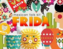 Frida - mexican folk kit