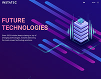 Landing page for INSTATEC company